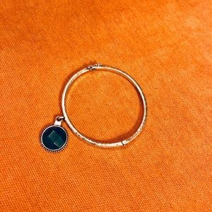 Lucky Brand Teal Stone Bangle
